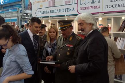 Генерал Љубиша Диковић, начелник Генералштаба Војске Србије, на Гласниковом штанду