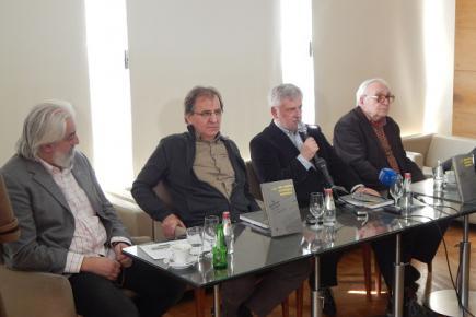 Петар В. Арбутина, Гојко Тешић, Душан Глишовић и Драган Стојановић