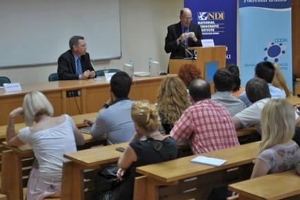 Предавање Дезмона Динана на Факултету политичких наука